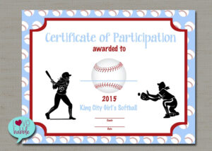 Softball Certificate Templates Free – 10+ Professional Within Free Softball Certificate Templates