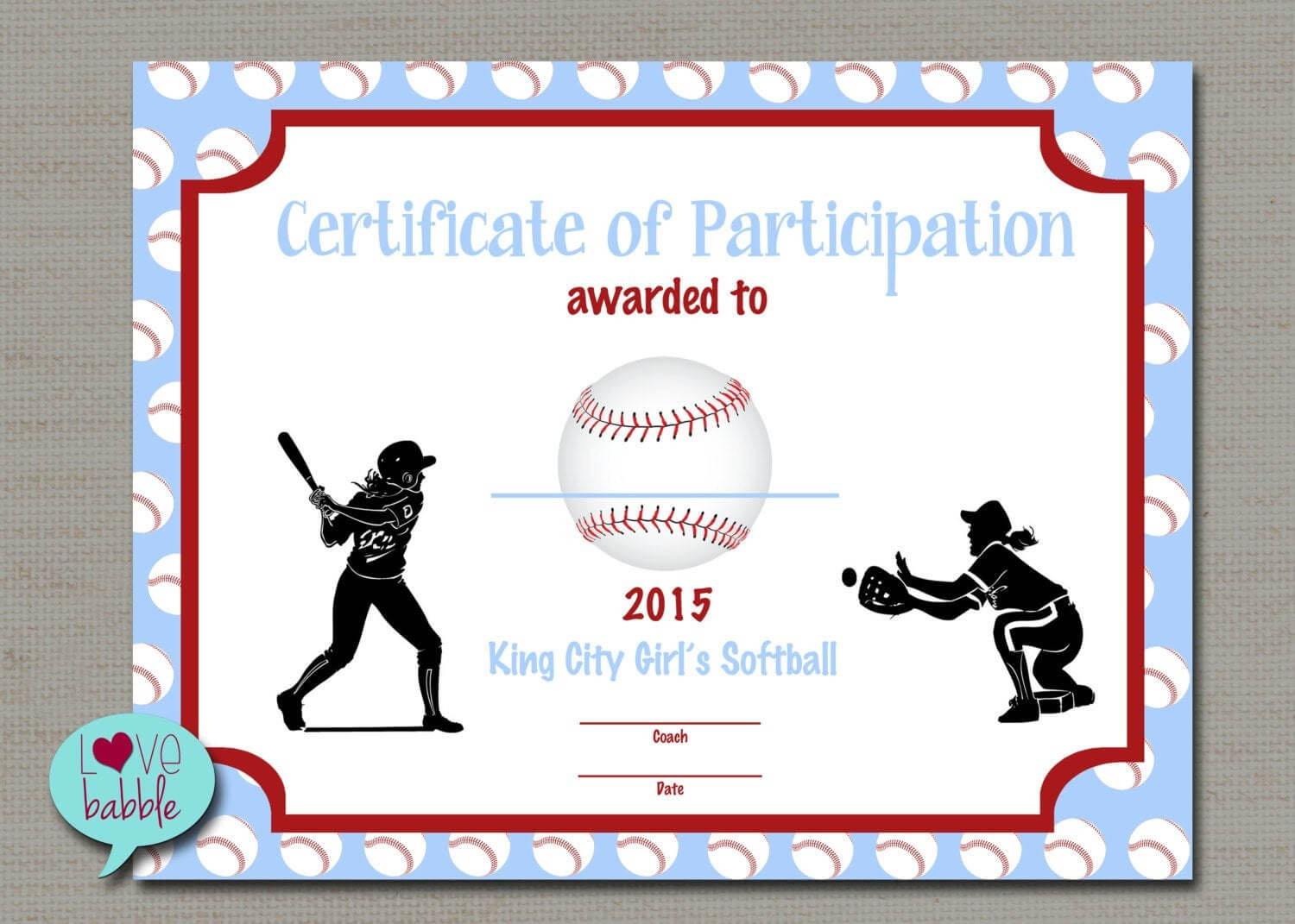 Softball Certificate Templates Free - 10+ Professional within Free Softball Certificate Templates