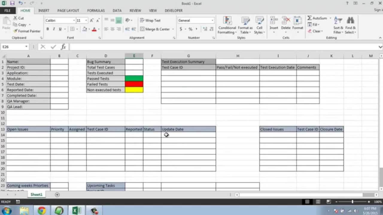 Software Testing Weekly Status Report Template In Test Result Report Template