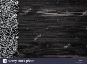 Some Wood Crews On Dark Wooden Desk Board Surface. Top View pertaining to Borderless Certificate Templates