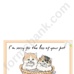 Sorry For Your Loss Sympathy Greeting Card Template Inside Sorry Card Template