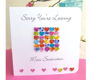 Sorry You're Leaving Card – Handmade And Personalised Leaving Card, Perfect  For New Job, Retirement, Etc. Customised With Name regarding Sorry You Re Leaving Card Template