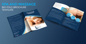 Spa And Massage Bio-Fold Brochure Template regarding Membership Brochure Template