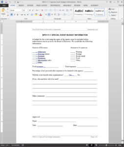 Special Event Budget Report Template | Npo111-1 with regard to After Event Report Template