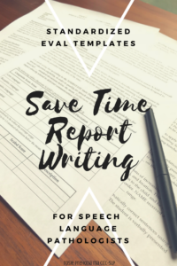 Speech & Language Standardized Evaluation Report Template throughout Speech And Language Report Template