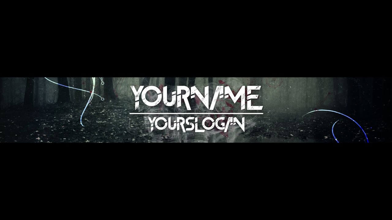 [Speedart] Youtube Banner / Channel Art Template – [Gimp And Photoshop] +  Download [Horror Style] Throughout Gimp Youtube Banner Template
