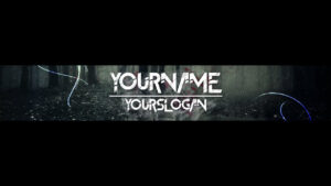 [Speedart] Youtube Banner / Channel Art Template – [Gimp And Photoshop] +  Download [Horror Style] Throughout Youtube Banner Template Gimp