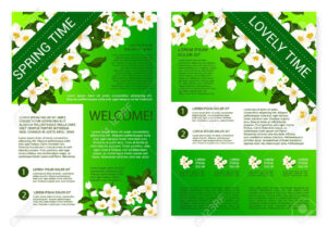 Spring Flowers Welcome Brochure Template Design with Welcome Brochure Template