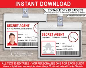 Spy Id Card Template Choice Image – Template Design Ideas in Mi6 Id Card Template