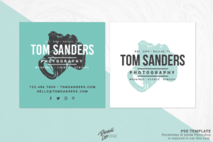 Square Photography Business Card Template throughout Photography Business Card Template Photoshop