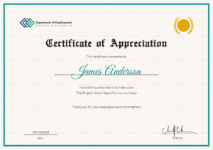 Staff Appreciation Certificate Template pertaining to Employee Recognition Certificates Templates Free