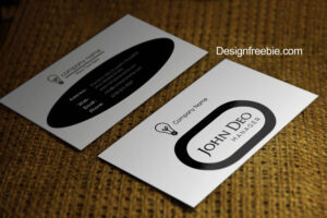 Standard Black And White Business Cards Templates Free in Black And White Business Cards Templates Free