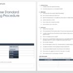 Standard Operating Procedure Template Word Free 2010 Within Free Standard Operating Procedure Template Word 2010