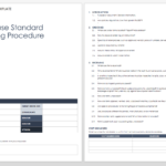 Standard Operating Procedures Templates | Smartsheet With Instruction Sheet Template Word