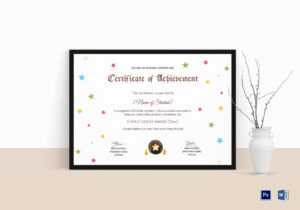 Star Achievement Certificate Template within Star Award Certificate Template