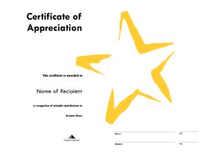 Star Award Certificate Templates Free Image pertaining to Star Award Certificate Template