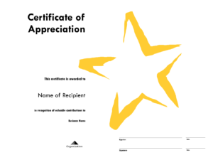 Star Award Certificate Templates Free Image Regarding Star Certificate Templates Free