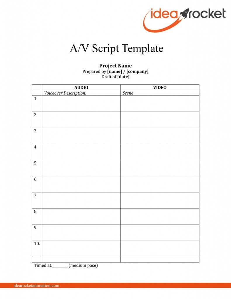 Steal This Script: Free Video Script Template Download Regarding Shooting Script Template Word