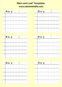 Stem And Leaf Diagrams Templates | Cazoom Maths Worksheets intended for Blank Stem And Leaf Plot Template