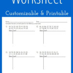 Stem And Leaf Plot Worksheet - Customizable And Printable throughout Blank Stem And Leaf Plot Template
