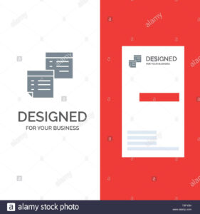 Sticky, Files, Note, Notes, Office, Pages, Paper Grey Logo Within Pages Business Card Template