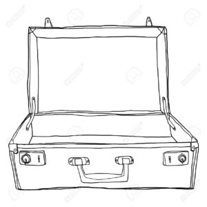Stock Illustration inside Blank Suitcase Template