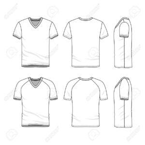 Stock Illustration within Blank V Neck T Shirt Template