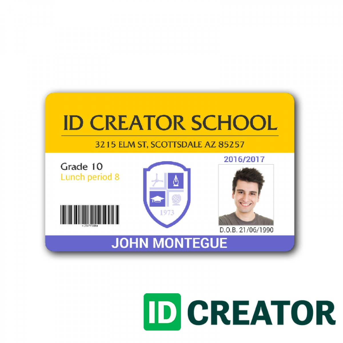 Student Id Card Template – Template Ideas Pertaining To Texas Id Card Template