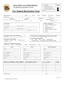 Student Registration Form – 5 Free Templates In Pdf, Word inside School Registration Form Template Word