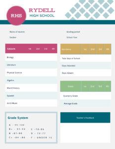 Student Report Card Template – Visme regarding Student Brochure Template