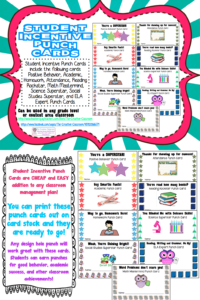 Student Rewards Punch Cards | Back To School: Ideas inside Reward Punch Card Template
