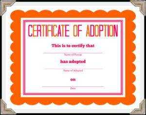 Stuffed Animal Adoption Certificate throughout Pet Adoption Certificate Template