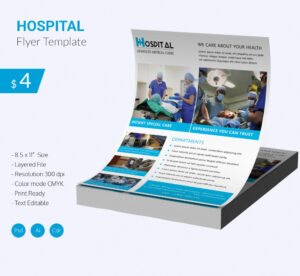 Stunning Hospital Flyer Template Download | Free & Premium with Healthcare Brochure Templates Free Download