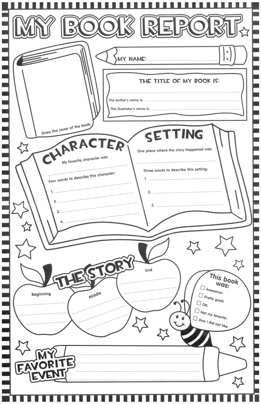 Such A Fun Looking Page For The Kids To Fill Out After Within Book Report Template Grade 1