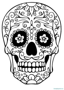 Sugar Skull Coloring Pages Unique Idea Blank Sugar Skull with Blank Sugar Skull Template