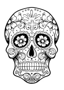 Sugar Skull Drawing Template | Free Download Best Sugar with regard to Blank Sugar Skull Template