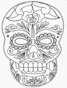 Sugar Skull Template – Menu Template Design with regard to Blank Sugar Skull Template