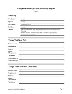 Summary Report Template Executive Doc Format Pdf Training throughout Training Summary Report Template