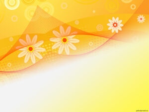 Sunflower Abstract Beauty Backgrounds For Powerpoint in Pretty Powerpoint Templates