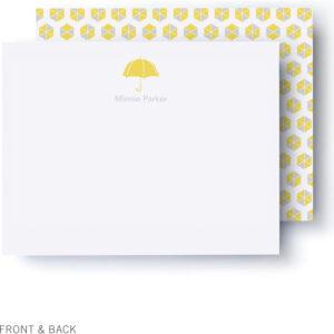 Sunny Umbrellas Baby Shower Thank You Card regarding Thank You Card Template For Baby Shower