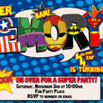 Superhero Birthday Invitations | Template Business Pertaining To Superhero Birthday Card Template