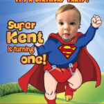 Superman Birthday Invitation Background   Party Invitation Regarding Superman Birthday Card Template