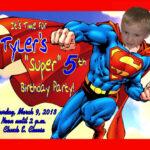 Superman Birthday Invitation Template Card Bday High Quality Regarding Superman Birthday Card Template