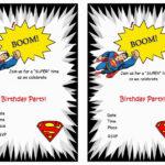 Superman Birthday Invitations   Birthday Printable Within Superman Birthday Card Template