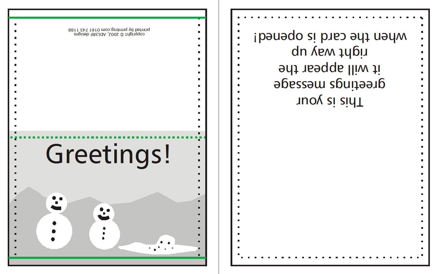 Supplying Greeting Card Artwork For Print | Www For Quarter Fold Greeting Card Template