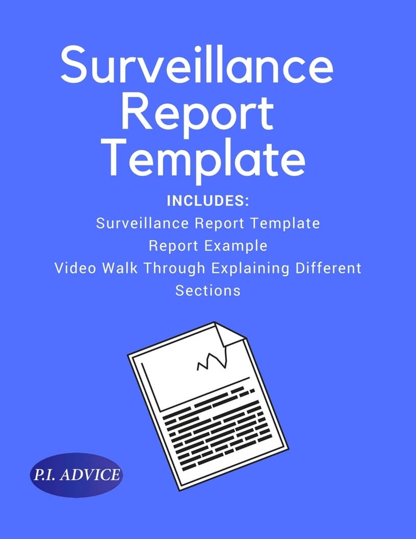 Surveillance Report Template Within Private Investigator Surveillance Report Template