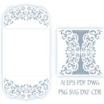 Svg Wedding Invitation 5X5'' Gate Fold Card Template with Free Svg Card Templates