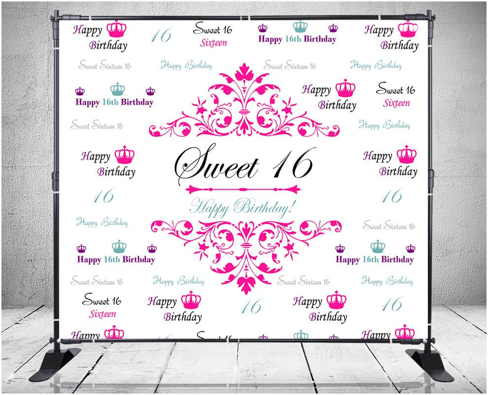 Sweet 16 Banner Template - 10+ Professional Templates Ideas For Sweet 16 Banner Template