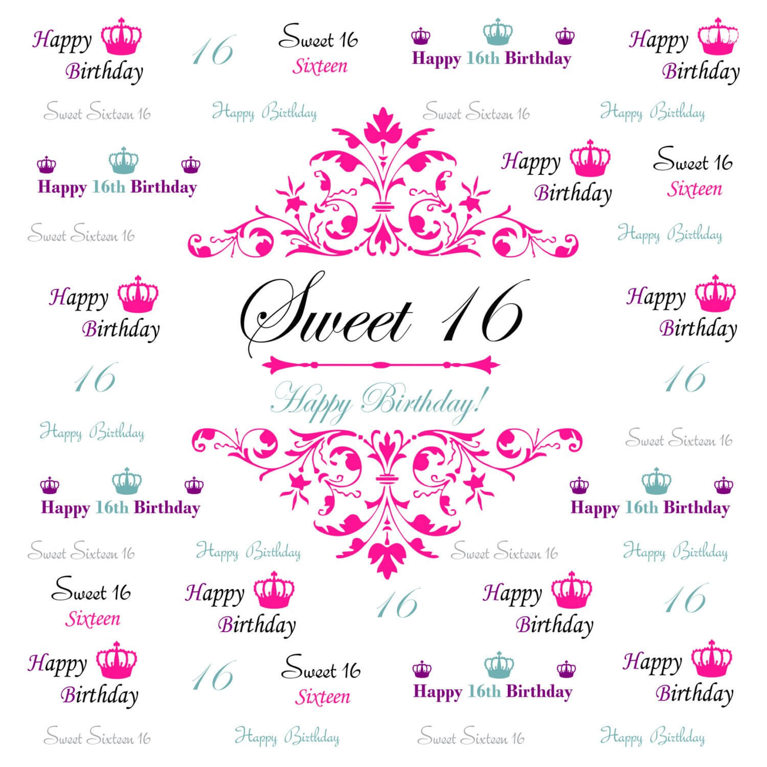 Sweet 16 Banner Template - 10+ Professional Templates Ideas pertaining to Sweet 16 Banner Template