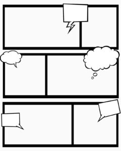 Sweet Hot Mess: Free Printable Comic Book Templates - And for Printable Blank Comic Strip Template For Kids